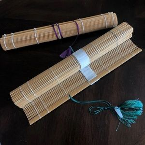 Set of 2 sushi rolling bamboo mats.